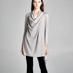 """""""Coy Mistress"""" One Button Draped Cardigan Gorgeous cardigan that you drape across your shoulders and button. Also can be worn as an open cardigan. Available in black, charcoal and heather grey. This listing is for the HEATHER GREY. Brand new with tags. Bare Anthology Jackets & Coats"""