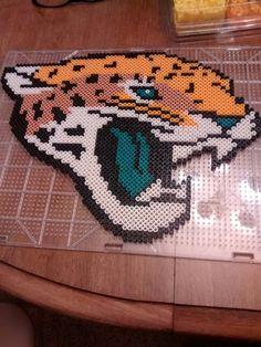 My Jacksonville Jaguars perler art.