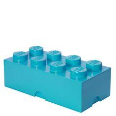 Lego Storage Brick 8 - Medium Azure: Image 01