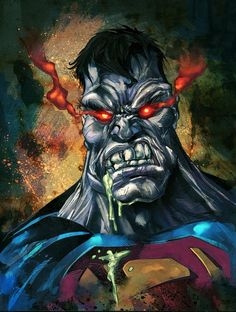 SUPERMAN VILLAN: Bizarro was a flawed clone created by Lex Luthor's staff of scientists.