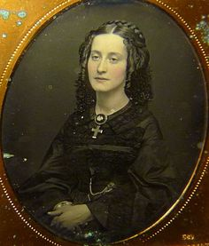 """Mrs. Maxwell A sample from our """"Mourning and Memorial"""" section: Mrs. Catharine Maxwell in half-mourning. Daguerreotype, c.1853"""
