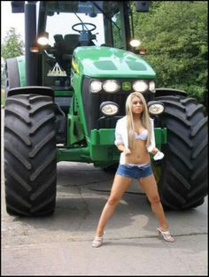 On tractor deere girl john sexy