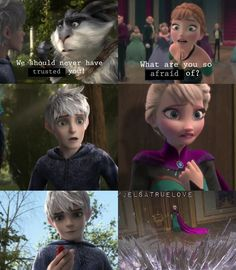 "I'm so happy with this edit. Please give me credit, I made it I recently watched Rise og the guardians, and OMG JELSA MAKES SO SENSE! Jack saved her sis telling her ""we're going to have fun"" when she was scared. Mm let's guess who is the scarest Queen.... ELSA! So , Jack can help Elsa to fight her fears just, having a little fun! That's another reason why I ship JELSA"