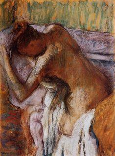 After the Bath by Edgar Degas #art