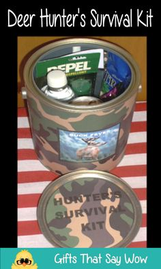 GIFTS THAT SAY WOW - Fun Crafts and Gift Ideas: Hunter's Survival Kit in a Paint Can
