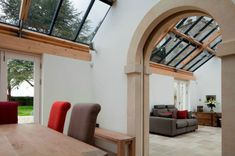 Image result for pitched glass roof in hall