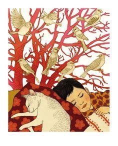 That is what I call divine slumber. via Ilya Green Children's book illustration