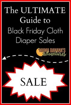 Black Friday cloth diaper sales! Once a year cloth diaper shops have legendary sales. It's the only time of year many of these major brands are on sale and at unbeatable prices. In addition, many shops offer extra rewards and free shipping!