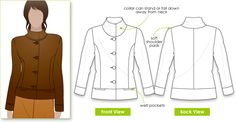 Mary-Ann Jacket. MARY-ANN JACKET: Lovely jacket sitting on high hip. Featuring front and back princess line this jacket is fully lined, and has a soft shoulder pad. March 14