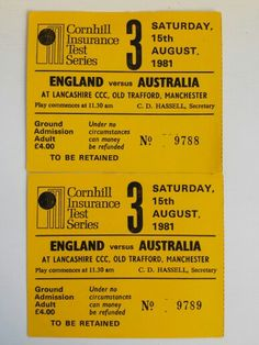 Botham's Ashes - August 1981 Old Trafford, Manchester - I was there! Ian Botham, Old Trafford, Manchester, Graphic Design