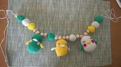 Crochet birds for baby pram or basket