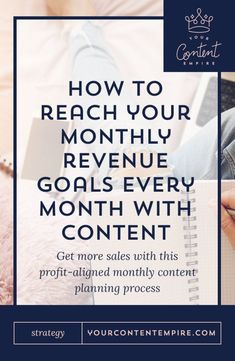 How to create a profit-aligned content plan to reach your monthly revenue goals - Your Content Empire Business Advice, Business Entrepreneur, Business Marketing, Online Marketing, Online Business, Business Coaching, Business Branding, Affiliate Marketing, Tips & Tricks