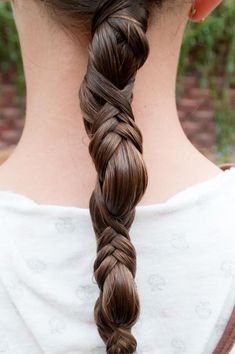 French Wrap ponytail - Hairstyles and Beauty Tips Love Hair, Great Hair, Gorgeous Hair, Pretty Hairstyles, Braided Hairstyles, Braided Ponytail, Ponytail Wrap, Ponytail Styles, Style Hairstyle