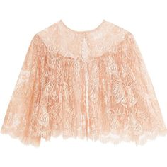I.D. Sarrieri Passiflora Chantilly lace and tulle bed jacket ($520) ❤ liked on Polyvore featuring intimates, pink, pink lace cami, lace camisole, lacy slip, lace chemise and camisole slip