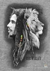 Let your walls do the roaring with this Bob Marley Profiles Textile Poster featuring the iconic Lion profile picture in a black and white sketch form with subtle rastafarian details. Quite the sight w