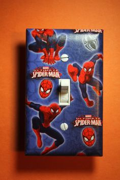 Spiderman Light Switch Plate Cover Comic Book by ComicRecycled