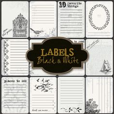 Free 10 favorite things labels/cards from Friendly Scrap