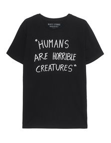 MNPF CLOTHING Humans Black: T-shirt with lettering