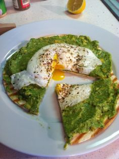 Easy Breakfast: Avocado Egg Pizza! I've made this almost everyday for breakfast! Healthy, Filling, and YUMMY!