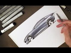 How to Sketch Car Reflections with Markers