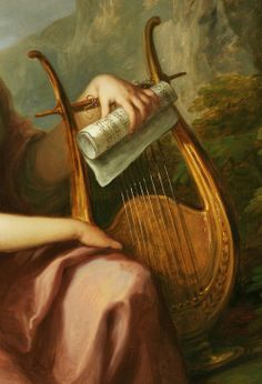 Portrait of Sarah Harrop (Mrs. Bates) as a Muse, detail - Angelica Kauffmann (1780-1781)