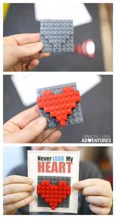 Printable DIY Lego Valentines Day Cards