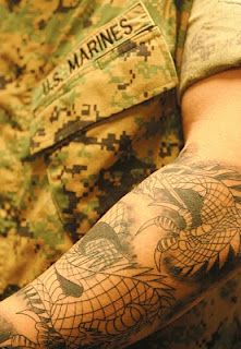Marine Corps Revises its Tattoo Policy.