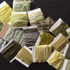So it's March, and we are looking at all the greens in the suitcase of color! Lots of pretty spring green ribbons!