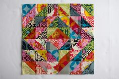 Twice Around the Block Bee by jenib320, via Flickr.  I love how this quilt artist made this work.  The square and angles take my eyes everywhere.  Still trying to figure out if there was an actual method to control the 'squares' or if it just 'happened'.
