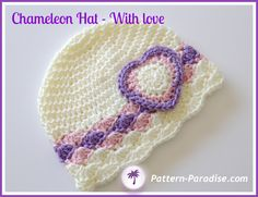 Crochet Baby Hats Chameleon Hat pattern by Maria Bittner Crochet Baby Sweaters, Crochet Kids Hats, Crochet Crafts, Crochet Projects, Knitted Hats, Bonnet Crochet, Crochet Cap, Crochet Beanie, Sombrero A Crochet