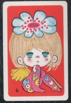 Playing-Swap-Cards 1970s-Japanese- Art-By-Ado-Mizumori-