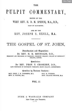 John, Volume 2, The Pulpit Commentary.
