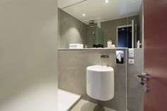 Freshly renovated bathroom at Hotel Diana Dauphine in Strasbourg, Alsace