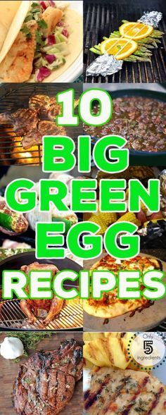 10 Amazing Big Green Egg Recipes Here are 10 Big Green Egg recipes ideas to get your springtime grilling ideas going. From meat to veggies to pizza we've got you covered! Big Green Egg Grill, Big Green Egg Brisket, Green Eggs And Ham, Big Green Egg Pizza, Green Egg Recipes, Green Egg Cooker, Bbq Egg, Grilling Recipes, Dinner Ideas