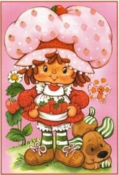 Strawberry Shortcake in the (Photo Strawberry Shortcake Coloring Pages, Strawberry Shortcake Characters, Vintage Strawberry Shortcake, 1980 Cartoons, Famous Cartoons, Baby Girl Crochet Blanket, Childhood Characters, Vintage Mermaid, Rainbow Brite