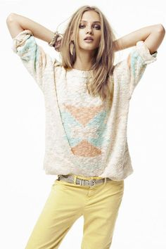 i'd wear pastel, if i had this sweater!