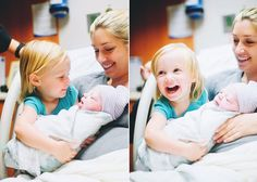 Picture of sibling meeting the new baby. So adorable! Ill have to make sure we get some photos of Isaac meeting his baby brother/sister for the first time