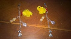 Happy Easter!  easter  chick charm key / purse / bag charm by PetitechicboutiqueGB on Etsy