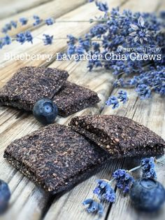 Blueberry Lavender Chia Chews are a powerhouse of superfoods. Loaded with antioxidants and rich in omegas. No guilt in eating these, all pleasure!
