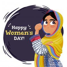 International Women's Day Speech: Words Defining Zeal and Ardor of Women Women's Day 8 March, 8th Of March, Happy Woman Day, Happy Women, Hand Drawn Arrows, Happy International Women's Day, Arab Women, Media Logo, Arte Pop