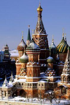 Snowy Kremlin, Moscow, Russia