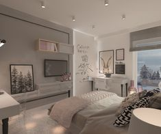 pokój dla nastolatki Teen Bedroom Designs, Room Design Bedroom, Bedroom Wall Colors, Room Ideas Bedroom, Home Room Design, Small Room Bedroom, Home Bedroom, Bedroom Decor, Pinterest Room Decor