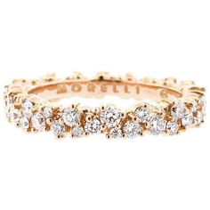 Wedding band - Paul Morelli Confetti Ring In Rose Gold... two of these would go great with the new (nonexistent) setting for either my grandmother's diamond or my mom's opal!