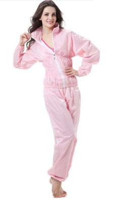Women's Weight Loss Slimming Sauna Sweat Suit Set Sports Gym Exercise Fitness Dance Yoga Suit Set Two-piece - Listing price: $60.00 Now: $30.58