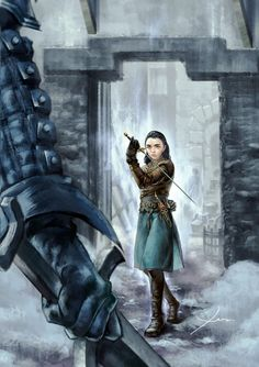 f Rogue Assassin Leather Armor Rapier Poison urban city ruins battle story Arya Stark Game of Thrones lg Game Of Thrones Sansa, Arte Game Of Thrones, Game Of Thrones Artwork, Game Of Thrones Facts, Winter Is Here, Winter Is Coming, Serie Got, Film Manga, Game Of Trones