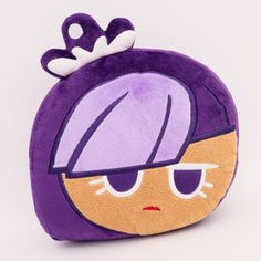 Moblie Game Cookie Run Character Face Pillow Cushion 34cm 13in Black Berry #Cookierun