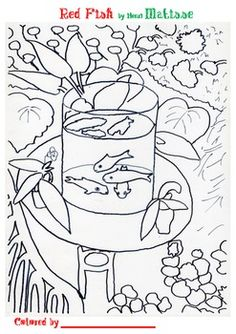 Coloring Book : Matisse\'s Gold Fish   Art Matisse/physics color and ...