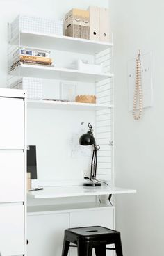 Via Musta Tuntuu | White Home Office | String System
