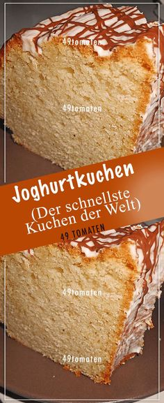 Yogurt cake (the fastest cake in the world) - - Lecker - Kuchen Easy Vanilla Cake Recipe, Chocolate Cake Recipe Easy, Chocolate Recipes, Cake Recipes Without Oven, Cake Recipes From Scratch, Pound Cake Recipes, Easy Cake Recipes, Bread Recipes, Yogurt Cake