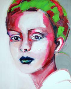 "Saatchi Online Artist: Patricia Derks; Oil, 2013, Painting ""Bella"""